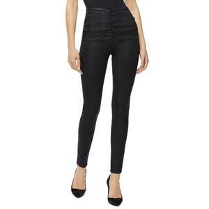 J Brand Natasha High Rise Coated Skinny Jeans